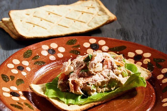 Mexican Tuna Salad on a Cracker