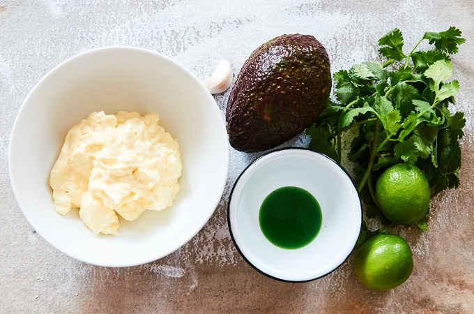 Spicy Avocado Dip Ingredients