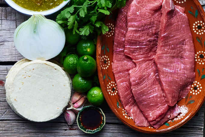 Ingredients to Make Shredded Beef Tacos