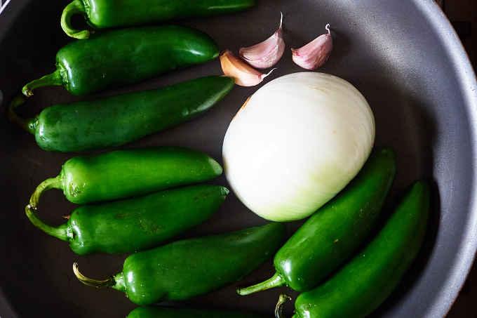 Jalapeño Peppers in Pan