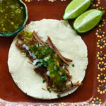 Shredded Beef Tacos with Salsa Verde
