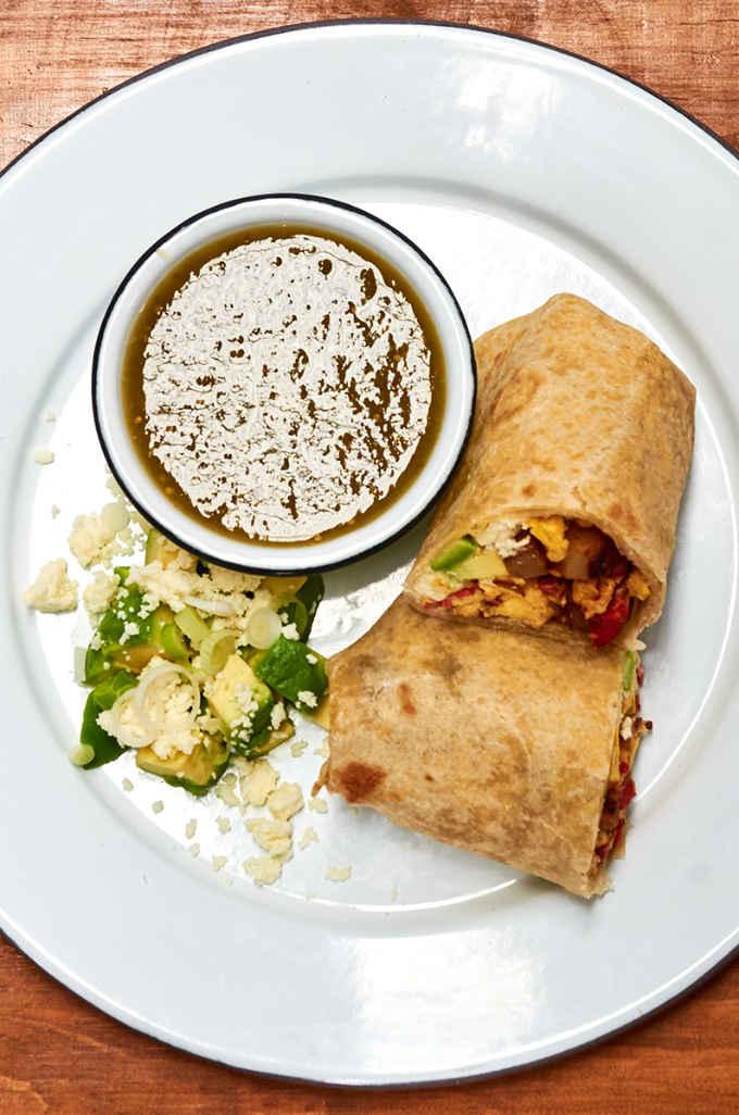 Chorizo and Egg Breakfast Burrito