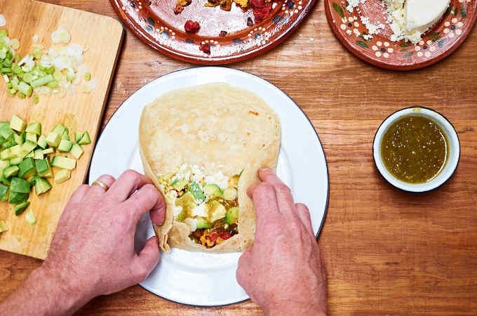 Folding a Burrito