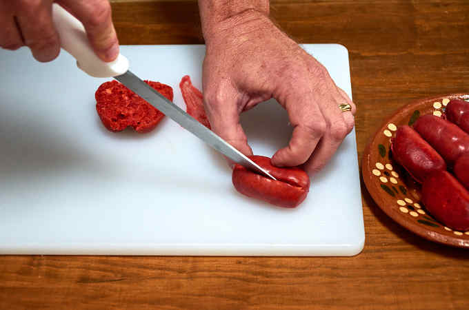 Slicing Chorizo