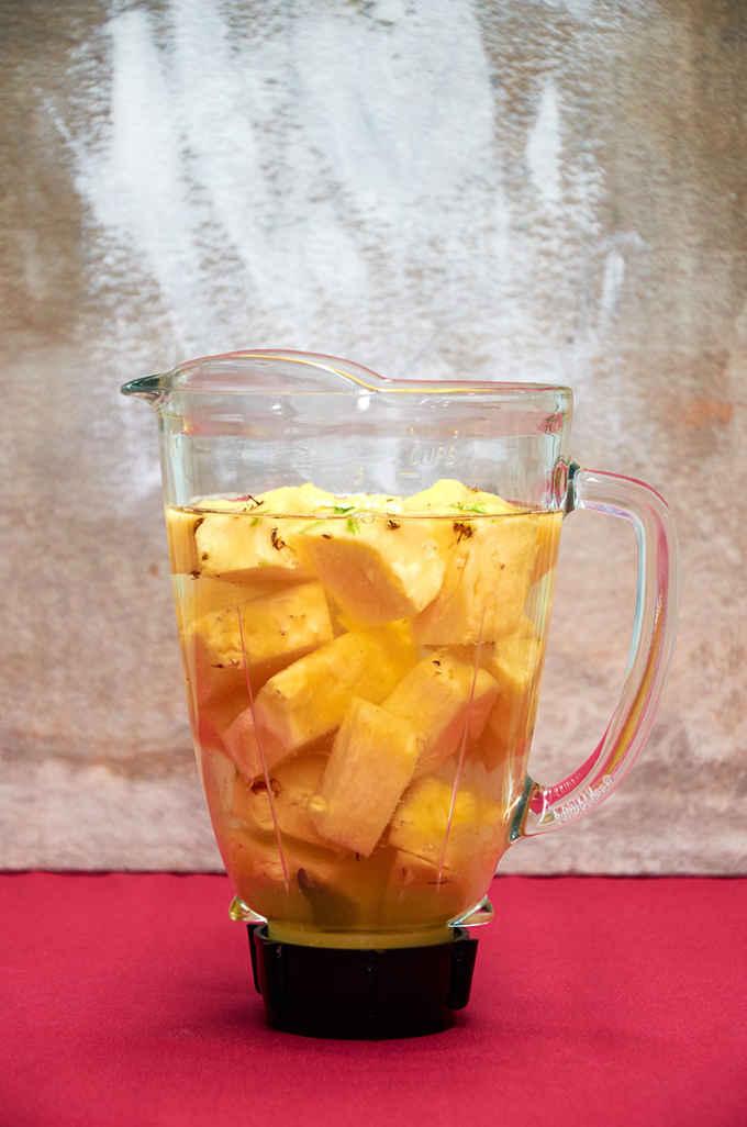 Blending Pineapple Water