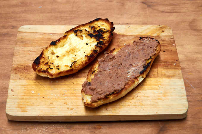Bolillo with Refried Beans