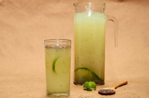 Chia Water with Lime Zest