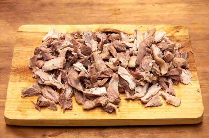 Chopped Pork Leg for Torta Filling