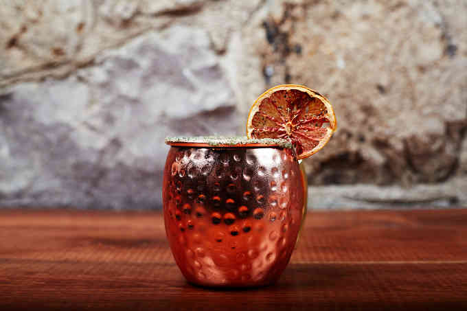 Cocktail in Copper Cup
