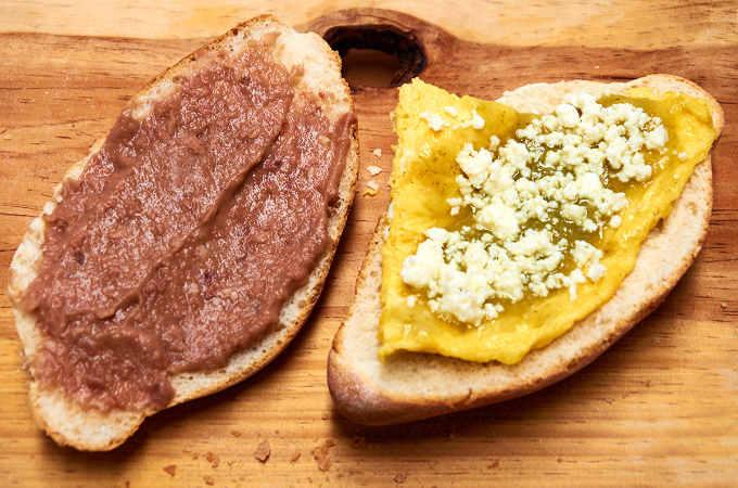 Cuernavaca Style Breakfast Scrambled Egg Torta