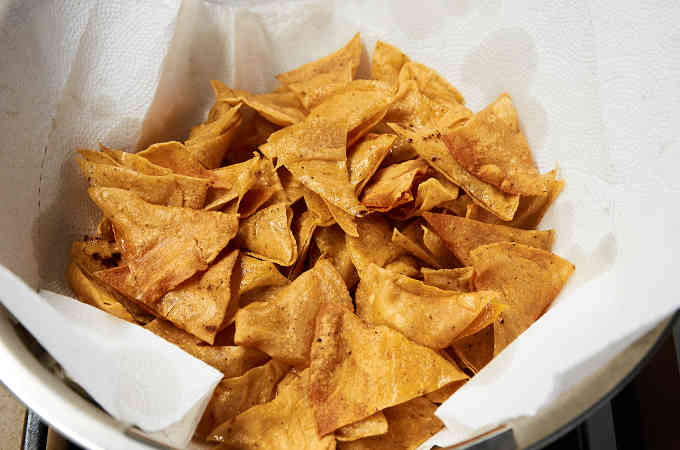 Draining Tortilla Chips