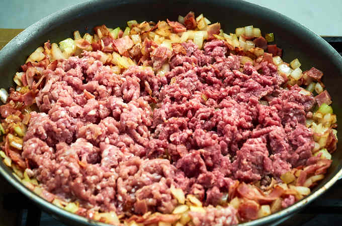 Ground Beef in Pan