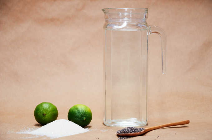 Ingredients Lime Chia Water