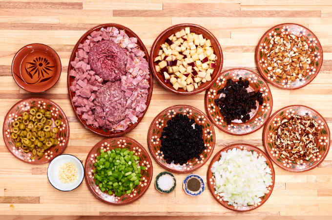Ingredients to Make Mexican Turkey Dressing