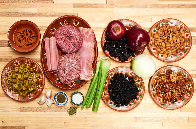 Ingredients to Make Mexican Turkey Stuffing