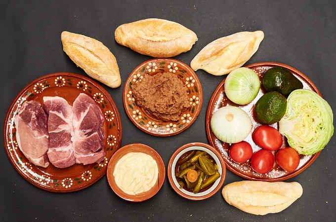 Ingredients to Make Pork Leg Torta