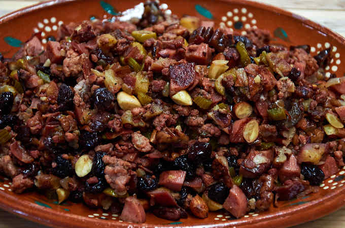 Mexican Turkey Stuffing Closeup