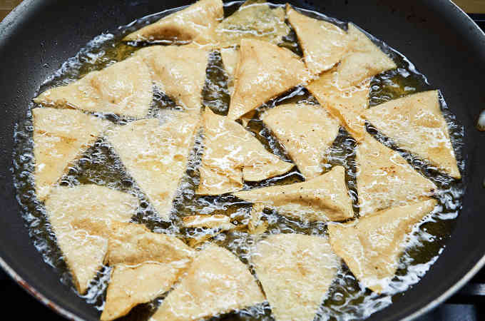 Pan Frying Tortilla Chips