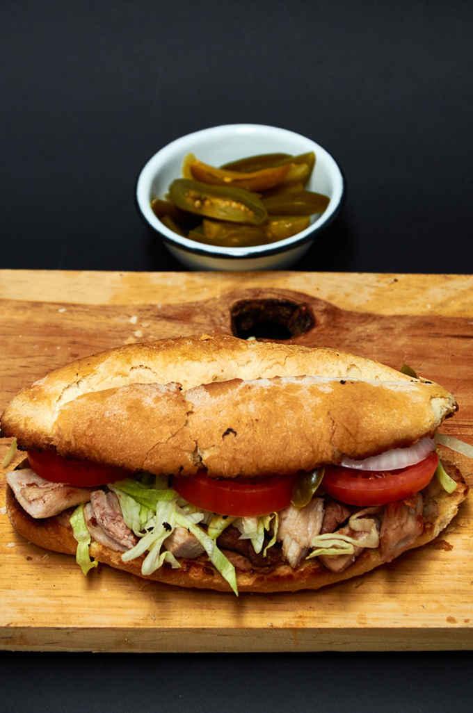 Pork Leg Torta (Sandwich)
