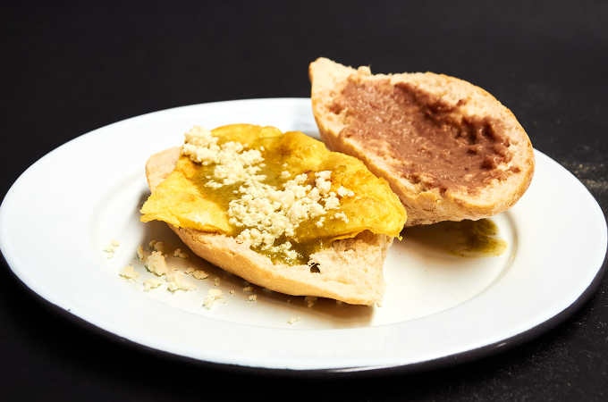Scrambled Egg Torta with Salsa Verde