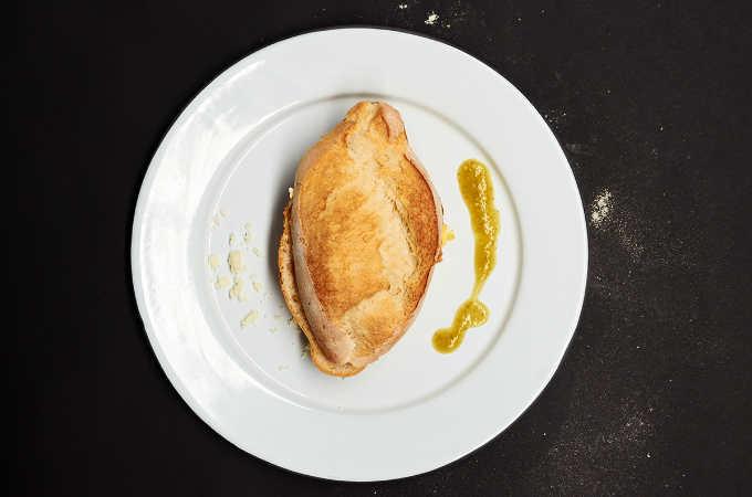 Torta de Huevo con Salsa Verde