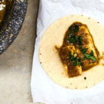 Cheese Taco with Salsa Verde