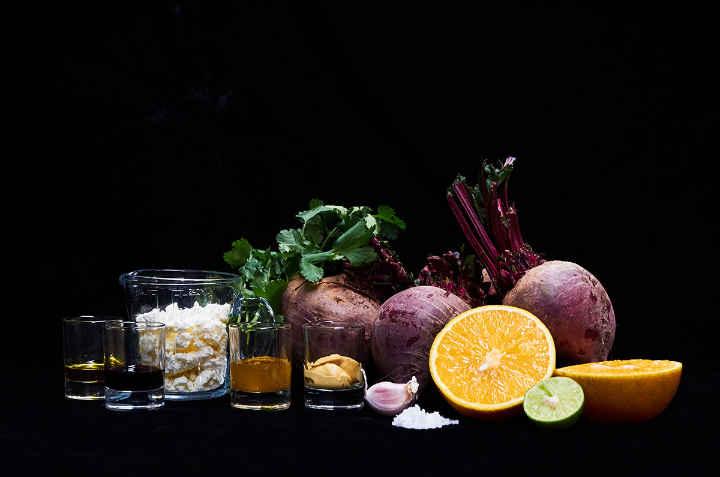Ingredients to Make Beet Salad with Citrus Vinaigrette