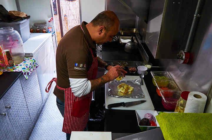 Chef Karl Tostado in the Kitchen
