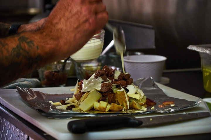Preparing Papa Rellena Natalia's Food Truck