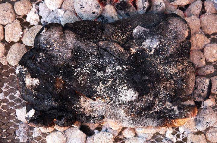 Charred Sirloin Cap Roast on Hot Coals