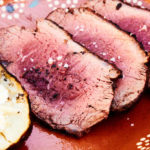 Sliced Grilled Sirloin Cap Roast with Baked Potato