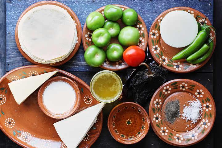 Ingredients to Make Enchiladas Potosinas
