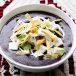 Bowl of Mexican Black Bean Soup