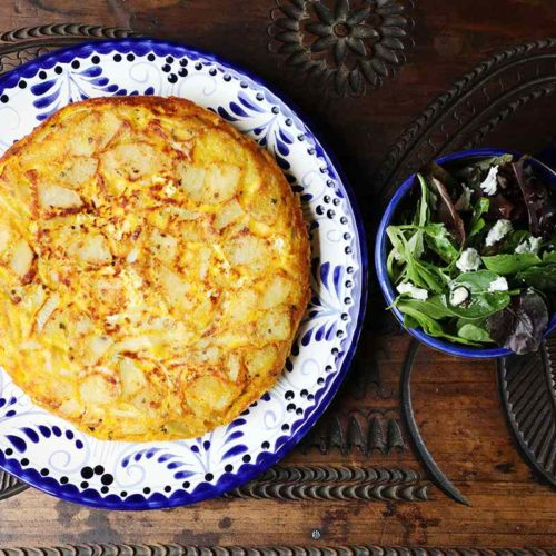 Authentic Spanish Omelette and Green Salad
