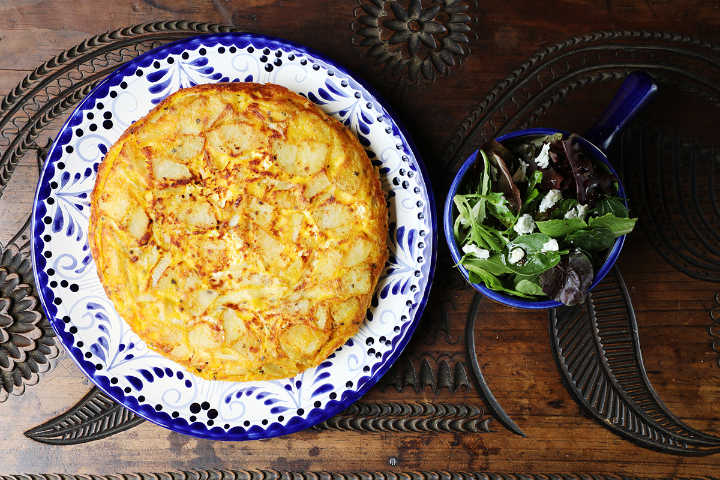 Spanish Omelette and Green Salad