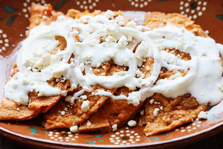 Plate of authentic enchiladas Potosinas.