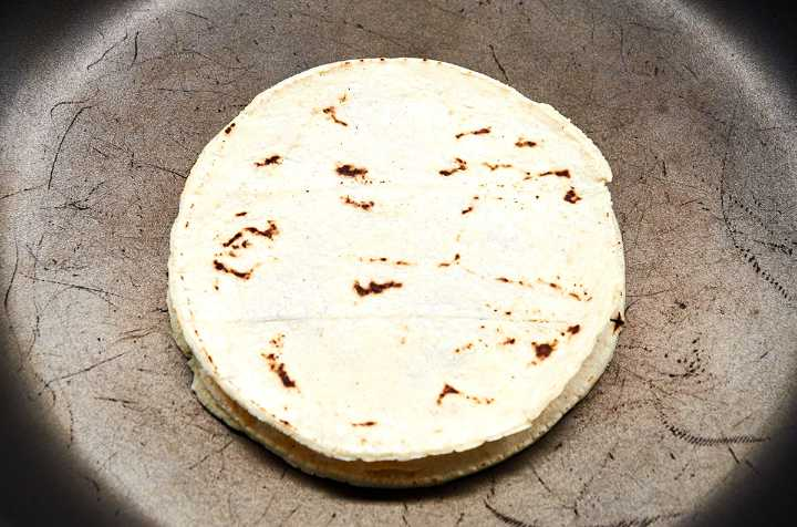Huitlacoche Quesadilla Cooking in Pan