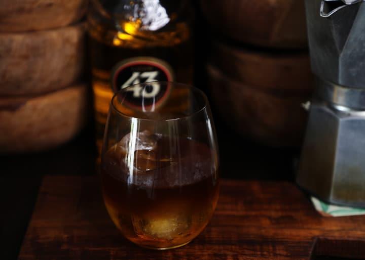 Glass of Carajillo Cocktail