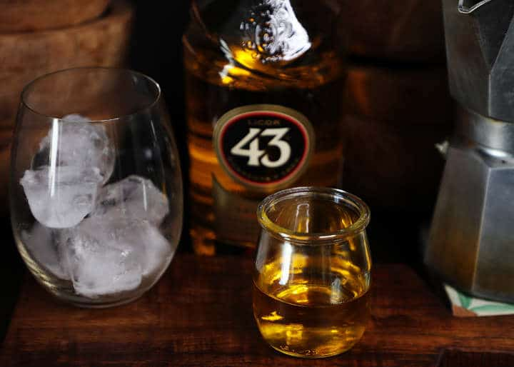 Licor 43 in Small Glass Cup