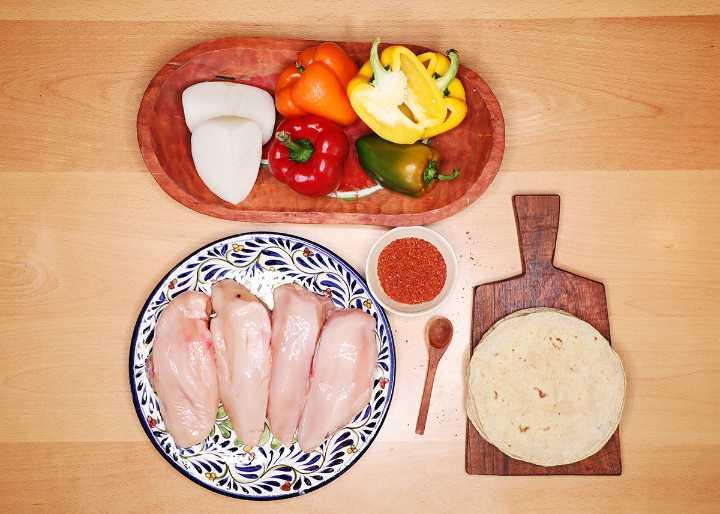 Chicken Fajitas Ingredients on Table