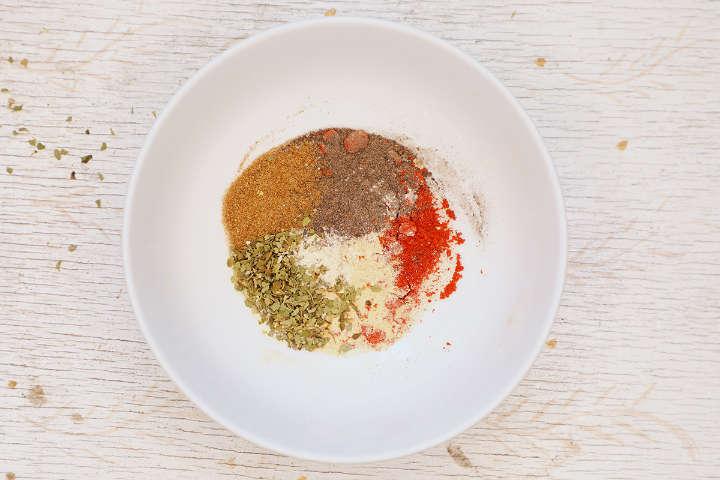 Miscela di condimento Fajita in ciotola