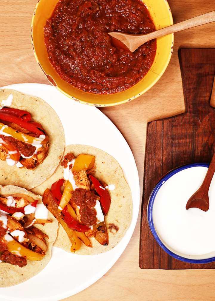 Mexican Chicken Fajitas on Plate