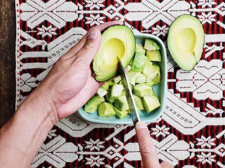Scoring the Flesh of an Avocado