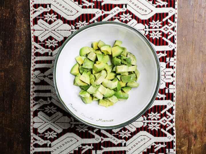Chopped Avocado in Bowl