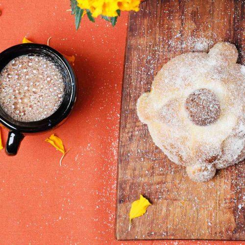 Loaf of Pan de Muerto - Day of the Dead Bread