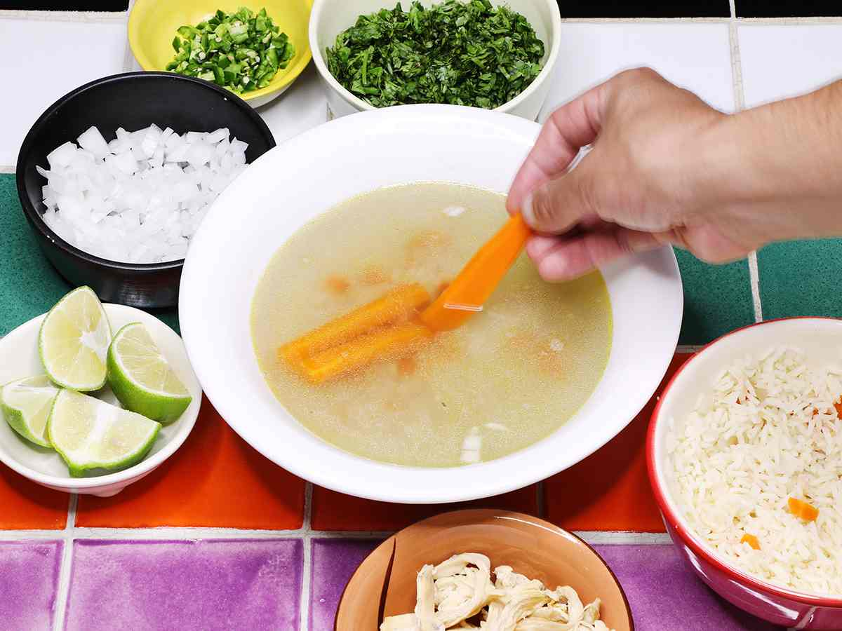 Adding Carrots to Mexican Chicken Soup