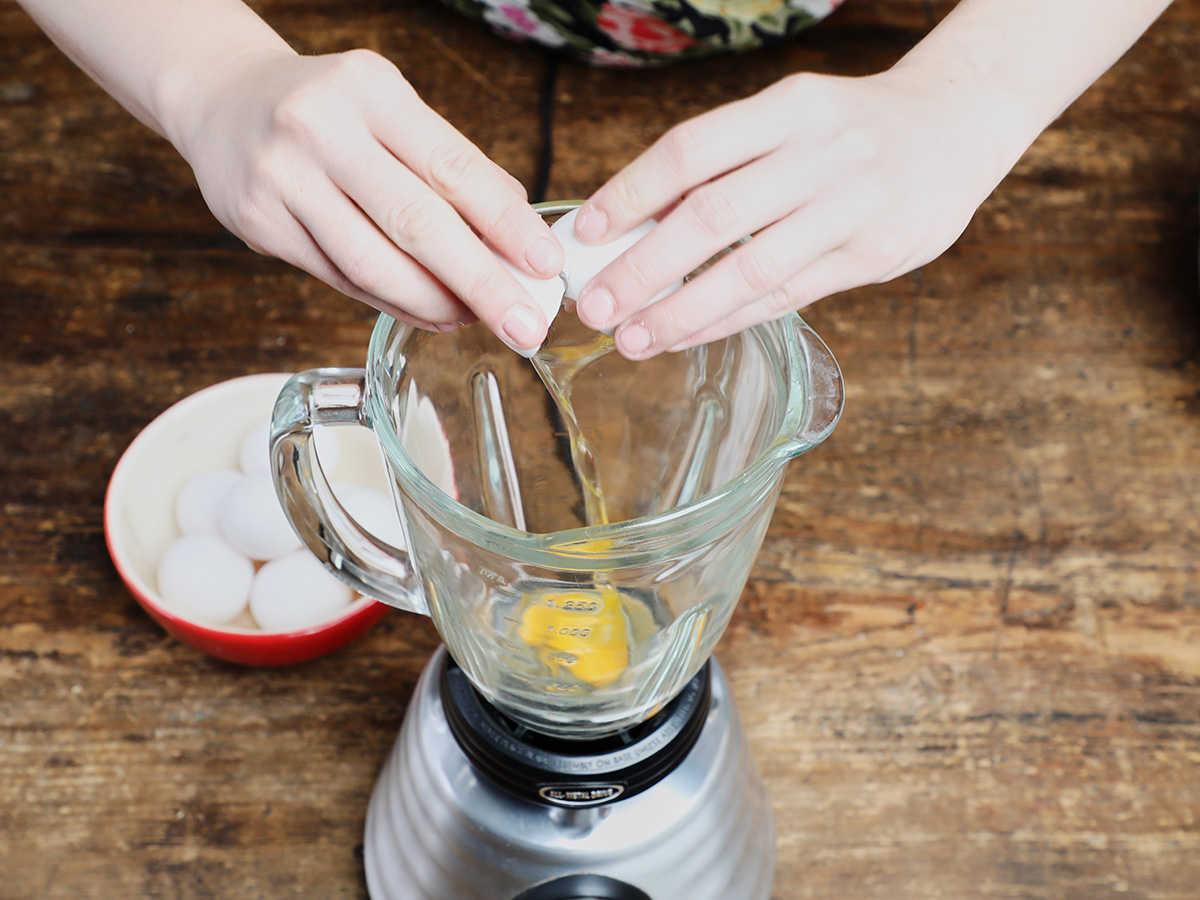 Cracking Eggs into Blender
