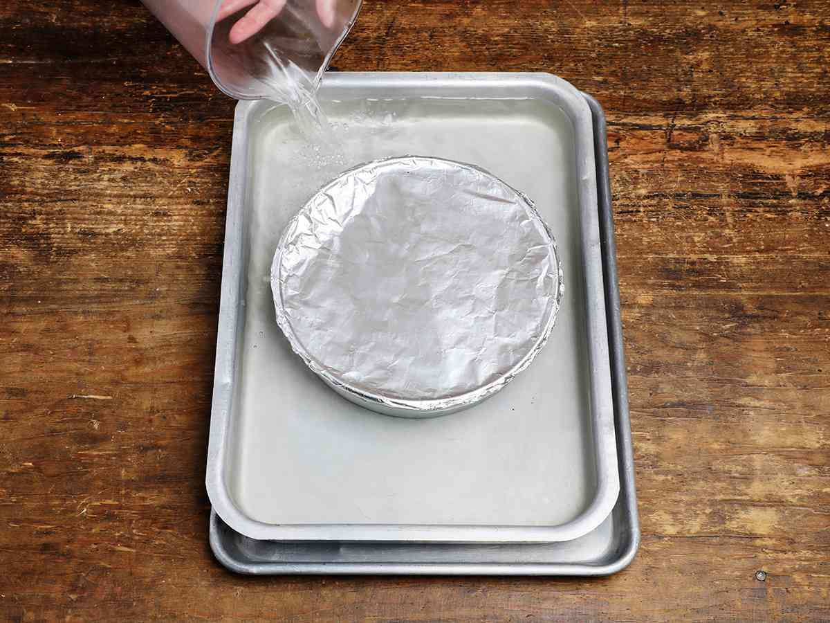 Pouring Water into Baking Dish