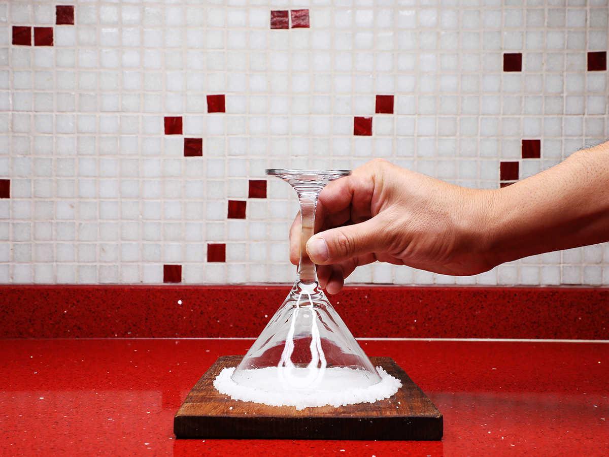 Rimming Margarita Glass