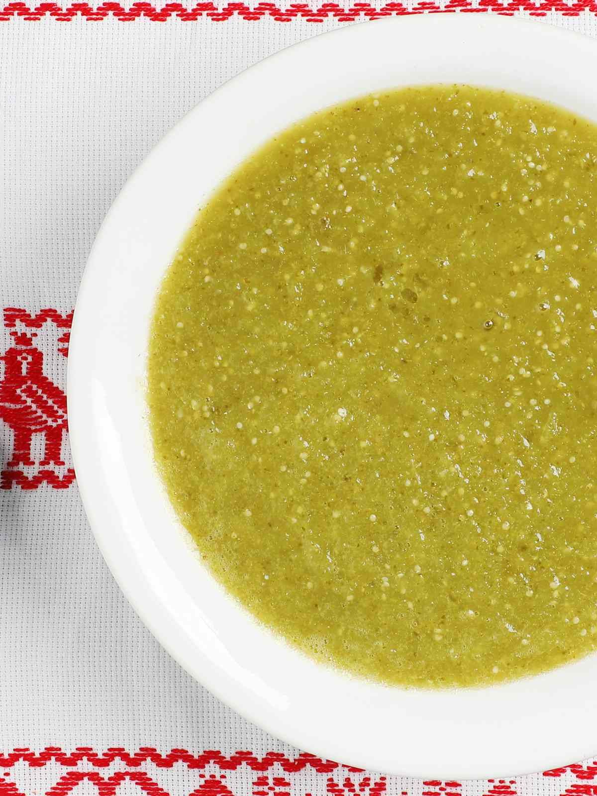 Bowl of Classic Boiled Salsa Verde